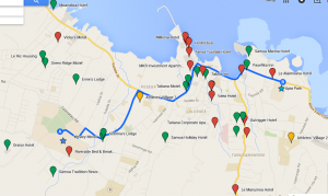 Games Accommodation Map
