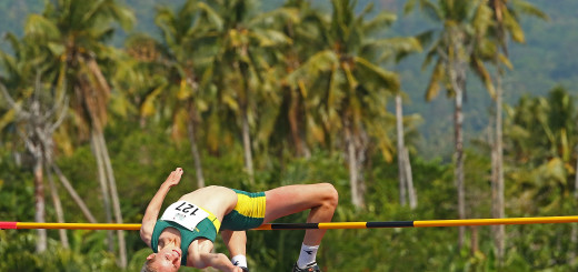 APIA, SAMOA - SEPTEMBER 08:  Paige Wilson of Australia jumps in the Girls High Jump during the Athletics at the Apia Park Sports Complex on day two of the Samoa 2015 Commonwealth Youth Games on September 8, 2015 in Apia, Samoa.  (Photo by Scott Barbour/Getty Images)
