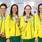 australia-pose-with-their-gold-medals-after-the-medal-presentation-for-the-4-x-100m-freestyle-relay-womens-final-at-the-aquatic-centre-of-the-tuanaimato-sports-facility-2