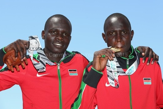 silver-bett-kipyegon-of-kenya-and-gold-medalist-willy-tarbei-of-kenya-in-the-boys-800m-final-during-the-athletics-competition-at-the-apia-park-sports-complex-2